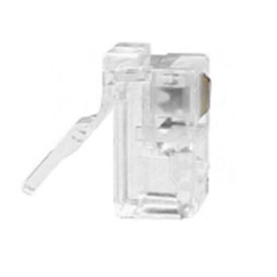 酷比客(L-CUBIC) 电话水晶头4P4C 6P2C 6P4C电话线接头 RJ11电话语音水晶头 6P2C 100个/袋(LCLNC3PLUG)